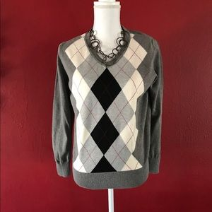 St. John's Bay Argyle sweater, Sz.XL